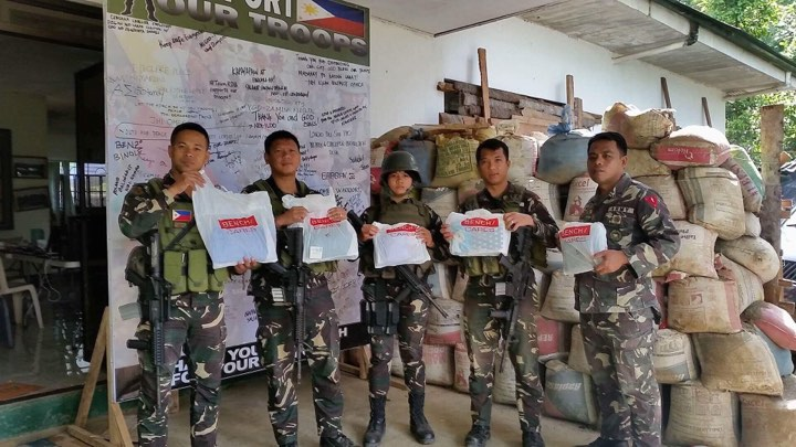 Bench/ PH donates gift packages to heroes of Marawi