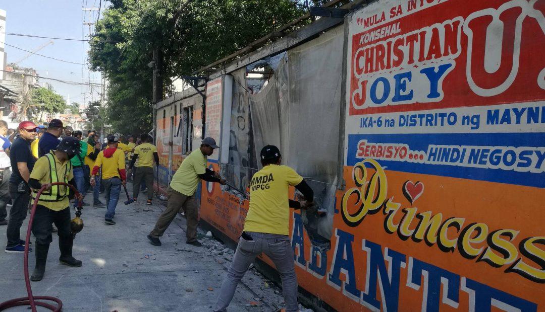 MMDA clears Malacañang Complex