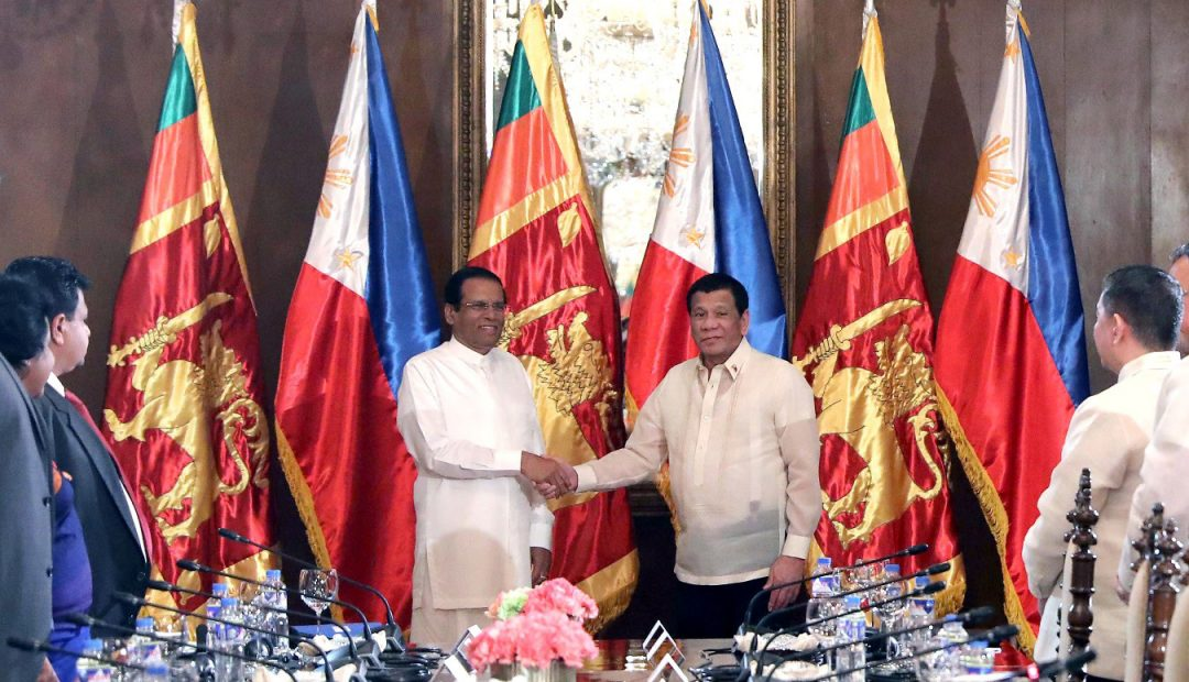 Sri Lankan chief exec commends PRRD
